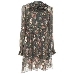 NWT Zara Floral Sheer Midi Dress